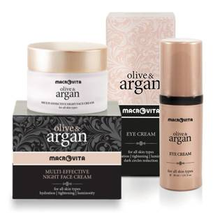 MACROVITA OLIVE & ARGAN GIFT SET: night face cream 50ml + eye cream 30ml