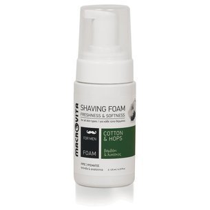 MACROVITA SHAVING FOAM cotton & hop 125ml