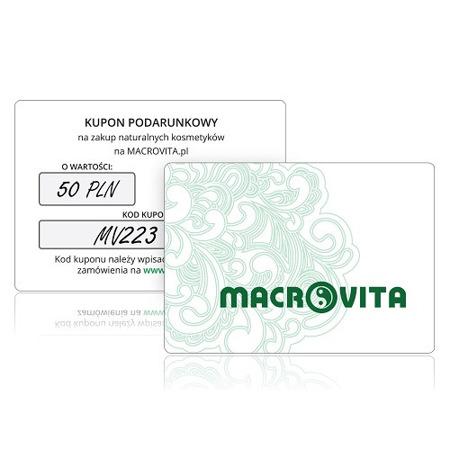 Kupon Podarunkowy MACROVITA o wartości 50 złotych