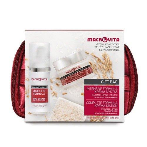 MACROVITA INTENSIVE+COMPLETE SET: night cream 40ml + eye cream 30ml + gift bag