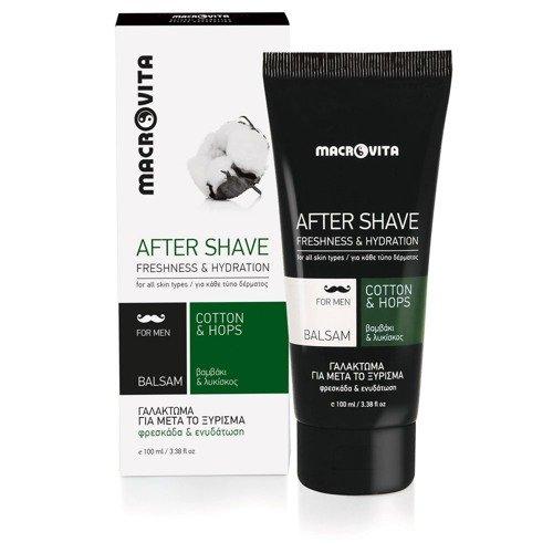 MACROVITA After Shave Balsam mit Baumwolle und Bio-Hopfen 100ml